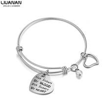 Женский браслет из нержавеющей стали с вдохновляющими цитатами и сердечками, браслеты и браслеты, которые она считает, что она может так сде...(Китай)