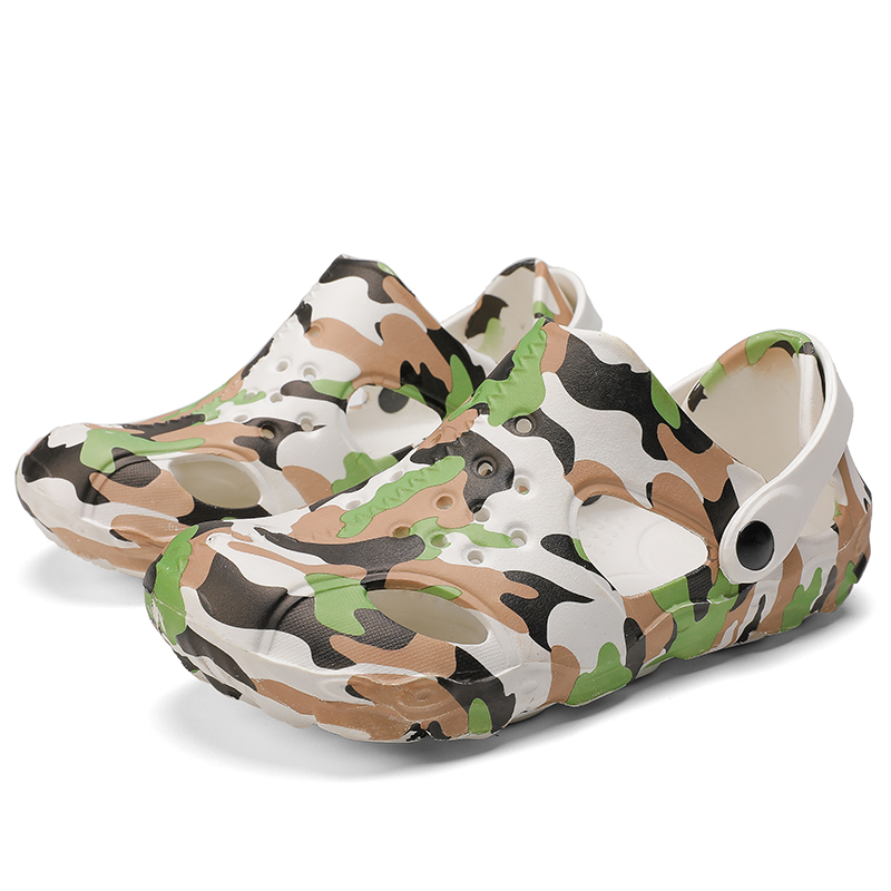 World-Win Beach Sandals Men Colorful Light weight Hot selling Website Onling summer Cheap Shoes Camouflage Slipper
