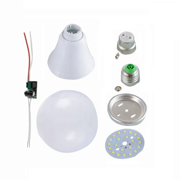 SKD Led Bulb 2 Years Warranty 7 watts E27 B22 Spare Parts Manufacturer High Quality Led Cob Light Lamp Raw Material