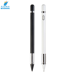 Best selling no need laser USB charging metal head black electronic stylus pencil