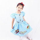 Fashion Blue Smart Girl Party Dress Outgoing Dress