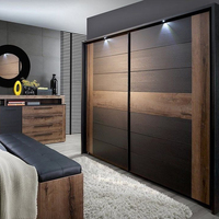 Adornus double color bedroom furniture wardrobe design laminate colours combination
