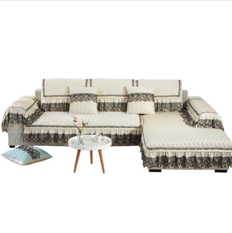 Venta al por mayor 2 plazas sofá de esquina cojín de encaje niños cubierta de sofá