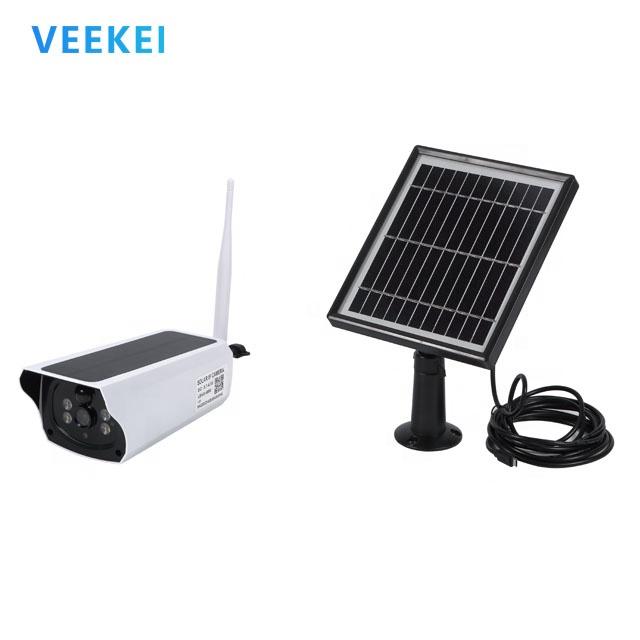 Veekei 4G 2MP HD ITE ZOOMกล้องวงจรปิดCAMพลังงานแสงอาทิตย์Poweredการเฝ้าระวังวิดีโอWiFi IPกล้องPIR motion Detection
