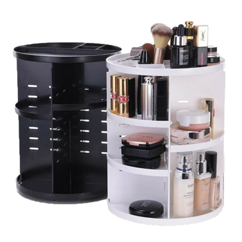 YJ 423941 Modern 360 Degree Acrylic Makeup Rotating Organizer Storage Cosmetic Lipstick Jewelry Box