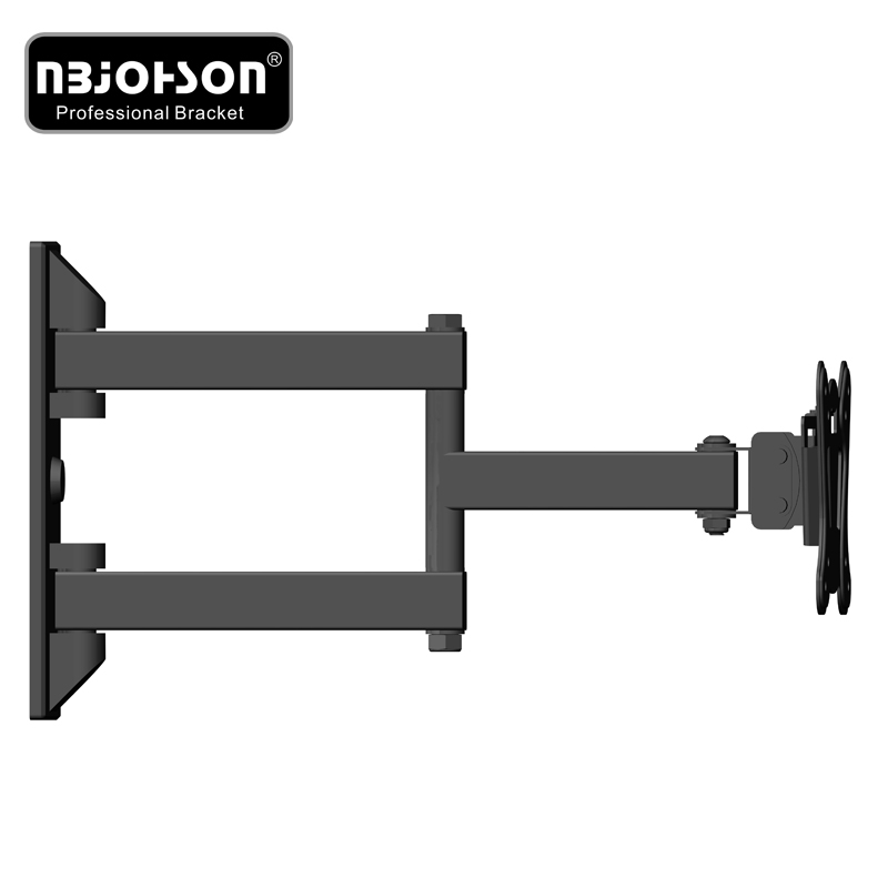 Full Motion Triple TV Wall Mount Bracket with Tilt and Swivel Function