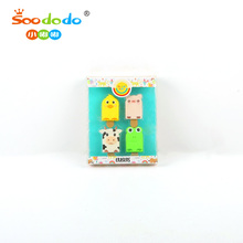 ПВХ коробка Soodood 3D животных Popsicle Ice-lolly Emoji Shaped карандаш <span class=keywords><strong>ластик</strong></span>