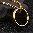European And American Gold Color Jewelry For Women Man Lover Ring Stainless Steel Wedding Bands Ring