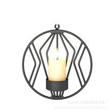 Креативные металлические золотые подсвечники, настенные геометрические круглые подсвечники, подсвечник для чайного света, настенные деко...(Китай)