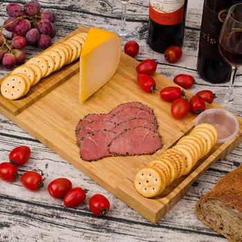 2019 Hot Bamboo Cheese Cutting Board with Grooves