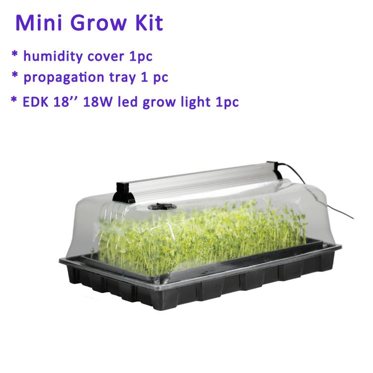 Mini heating hydroponic systems home garden planter plastic seed germination tray aeroponic propagator