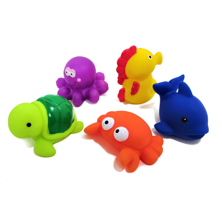 Squirt Water Animal Bath Toys Sea Animal Bath Toy Kids Floating Bath Toys Set