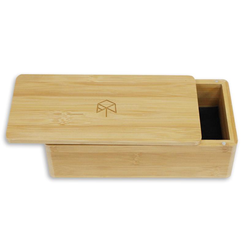 Pan noel promosyon ahşap özel logo bambu kutu ambalaj hediye kutuları mıknatıslar ile