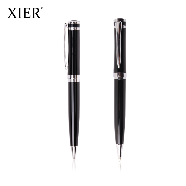 New Cheap Good quality Gift promotional metal ballpoint pen luxury office business black metal ball pen