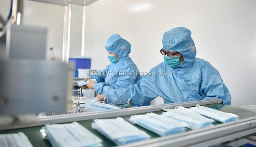 face mask 08-3Layers Dustproof Disposable Personal Protective Face Mask with Earloop Non Woven In Stock