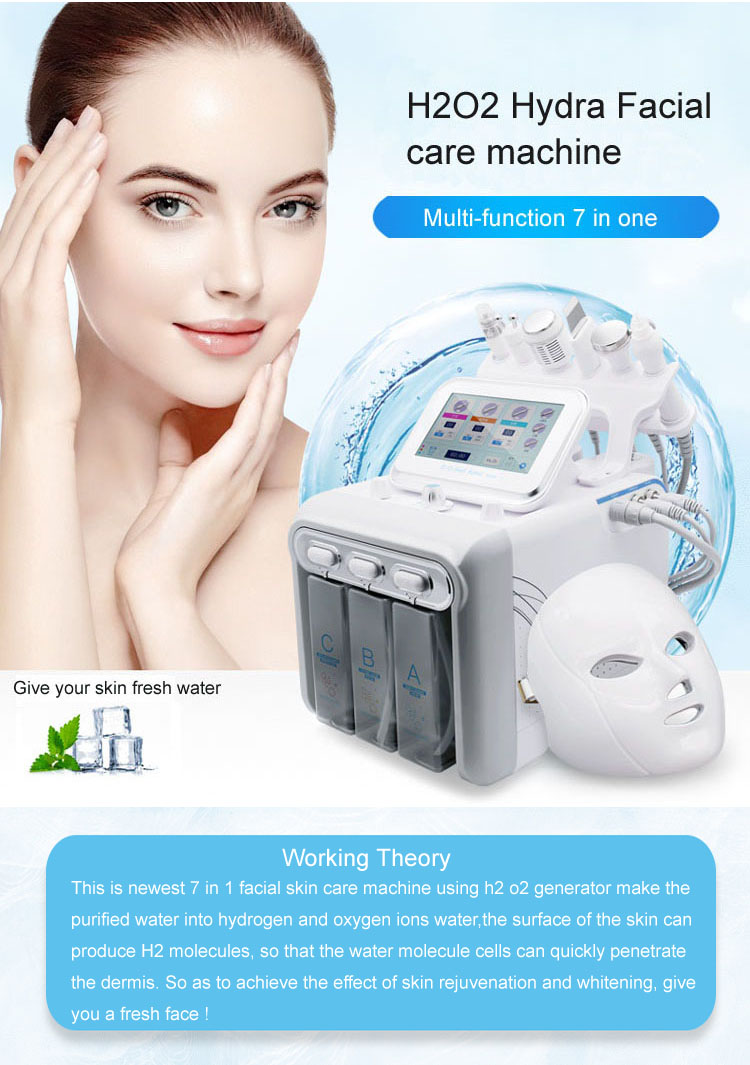 Hydro dermabrasion facial cleaning beauty machine 6 in 1
