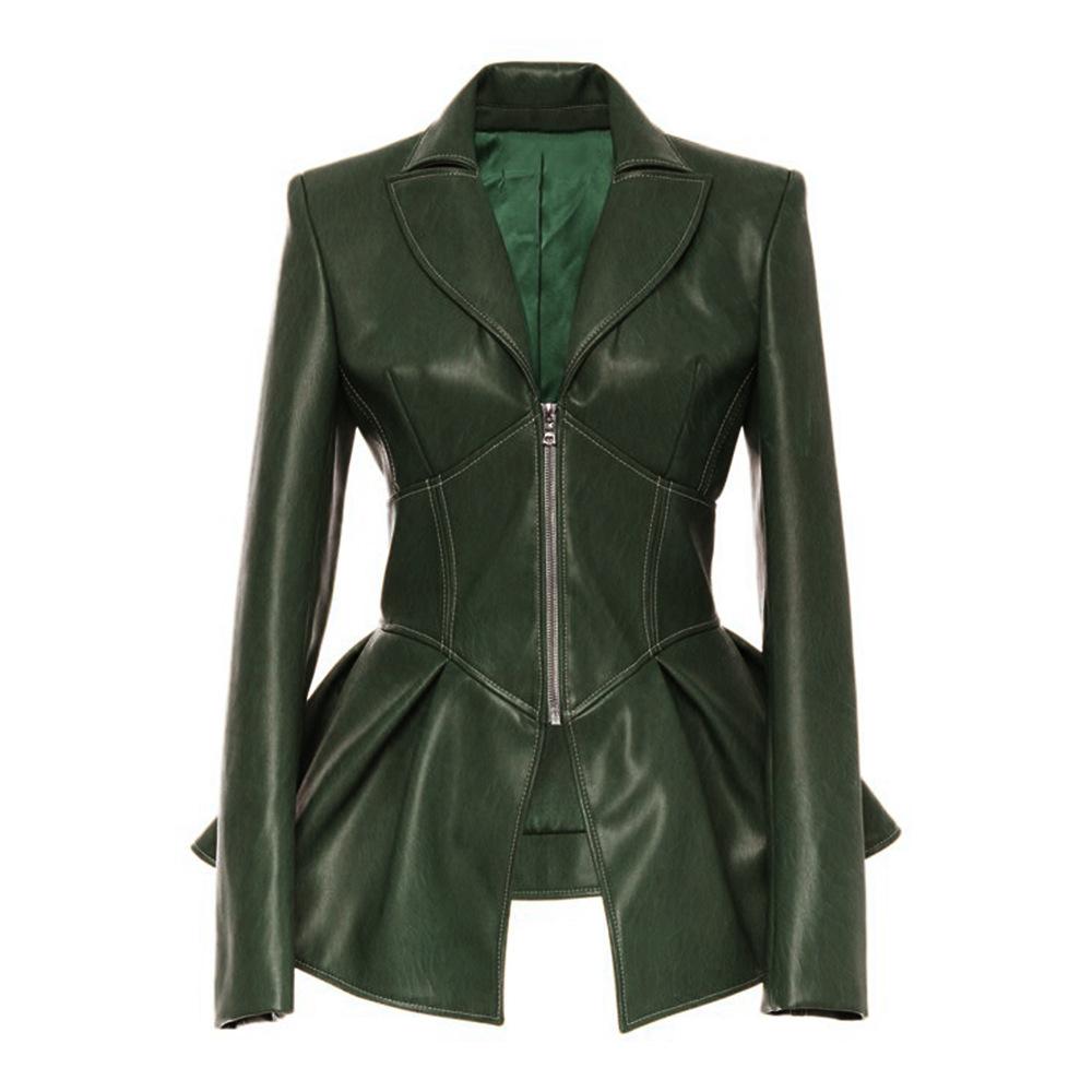 재킷 주전자 믹서 여자의 가죽 자켓 자켓 여성 겨울