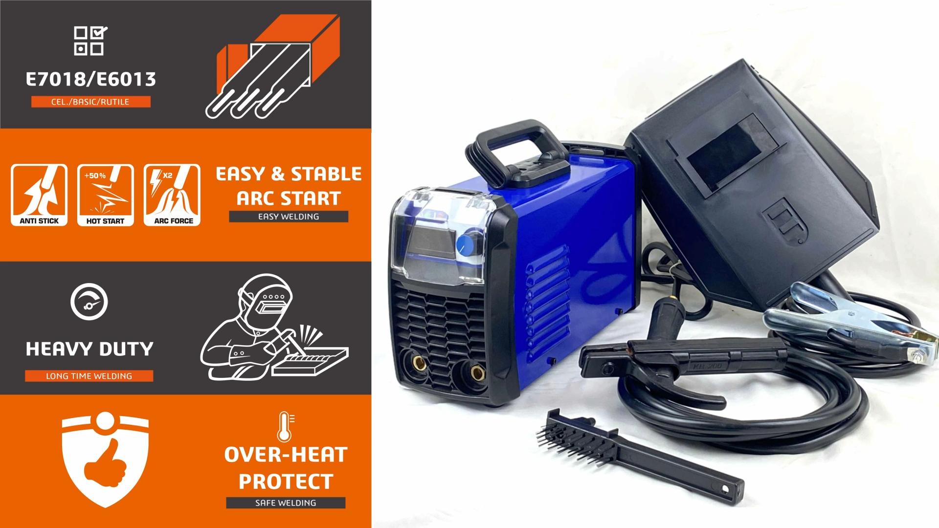 Çift voltaj 110/220V ECO serisi mma 200 inverter kaynak makinası ark kaynak malzemeleri doğrudan online satış