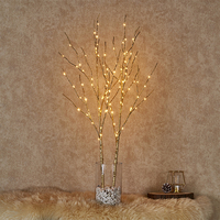 100 Glittering LED Bulbs 32in Artificial Decoration Lighted Tree Light Branch