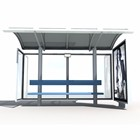 Metal Bus Stop Shelter