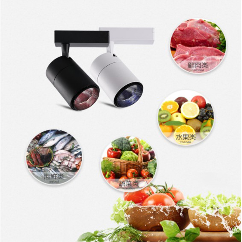 2/3/4 lines full color OEM ODM customized special fresh lamp adjustable CRI>95 supermarket led track spot light for vegetables