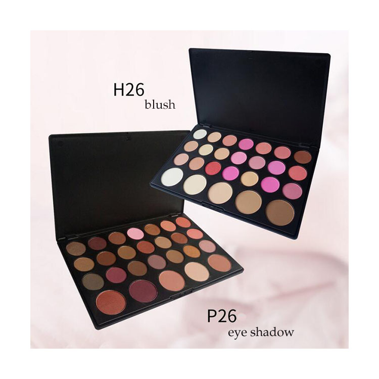 Super September Free <strong>Sample</strong> Pigmented 26 Colors <strong>Makeup</strong> Eyeshadow Palette Waterproof Eye Shadow Blush Private Label