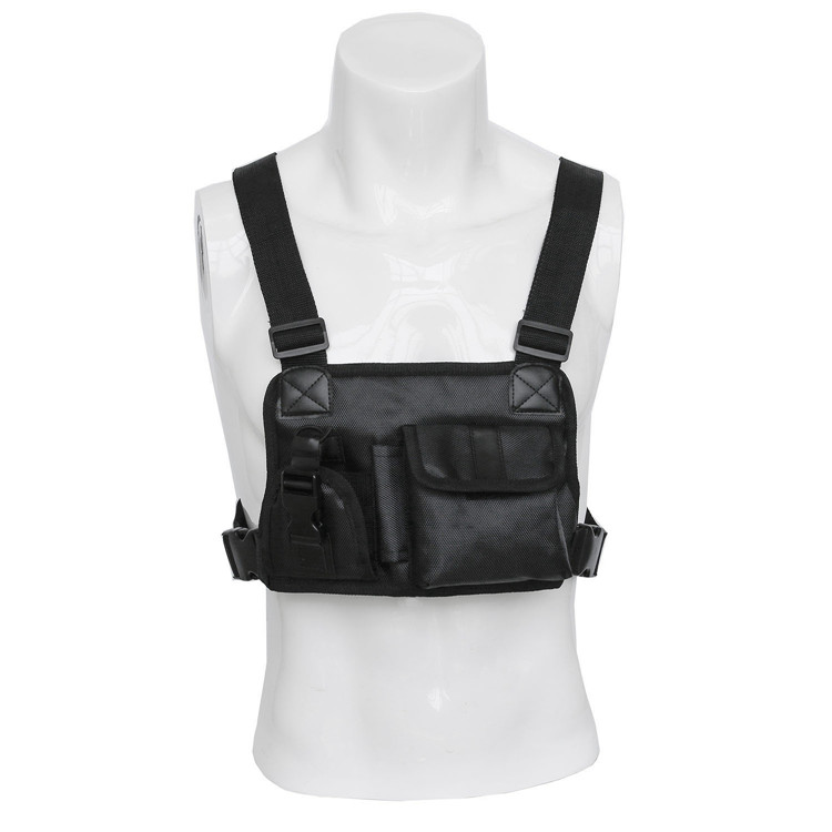Heavy Duty and Waterproof Custom Men Woman Chest Bag Pouch Harness Vest for Two Way Radio (Rescue Essentials)