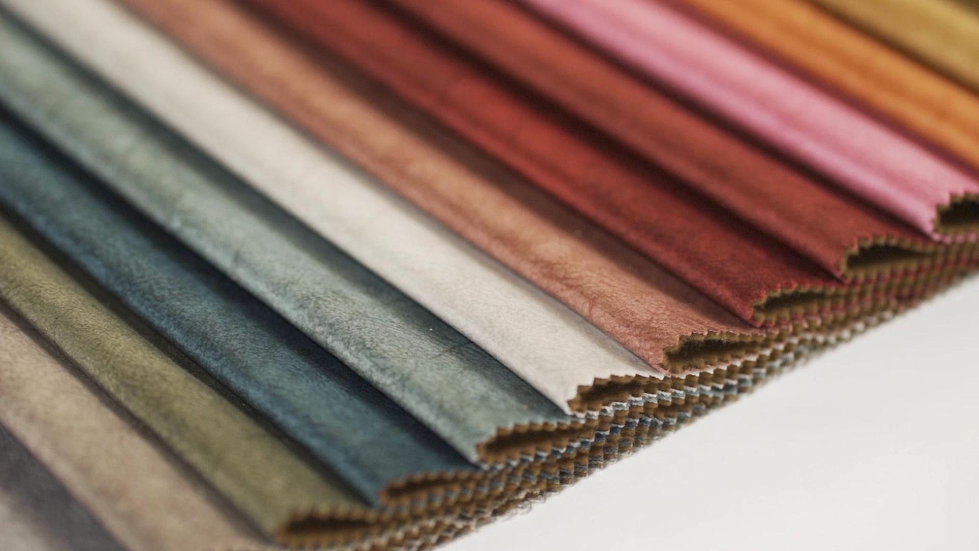 China produkt multi-farben design holland samt polyester stricken stoff für sofa