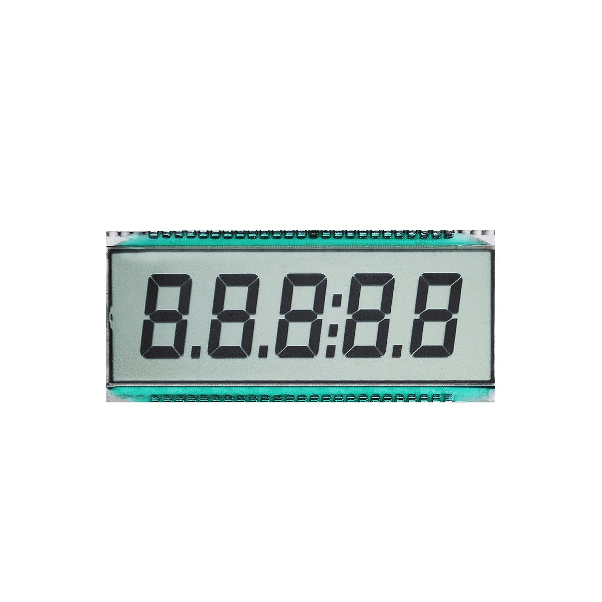 5 haneli 12 'saat TN LCD Panel segmentli lcd ekran GDC03828 -20 ~ 70C