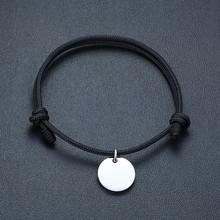 Vnox Персонализация гравировка любовное имя из нержавеющей стали Пазлы Сердце Монета шарм браслеты для женщин мужчин с цепочка веревка ручно...(Китай)