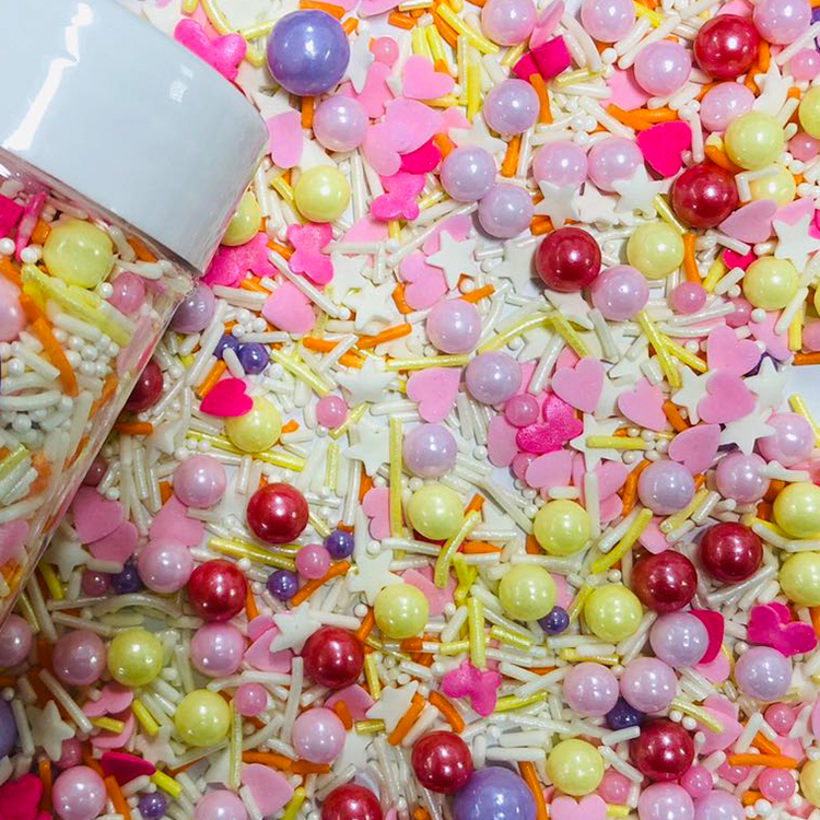 Kek dekorasyon parlak şeker elmas orta kek Sprinkles