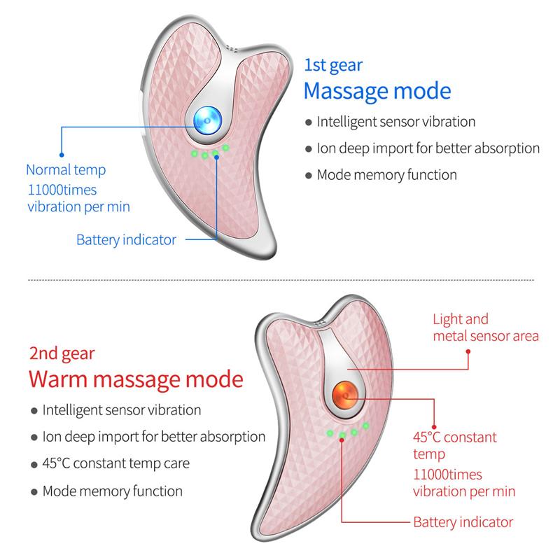 Small Electric Portable Micro-Current Vibration Facial Scraping Board Facial Massage Anti Aging Beauty Gua Sha Facial Machines