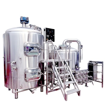 1000L 10HL Semi-Automatic steam heated combined 3-vessel brewing equipment