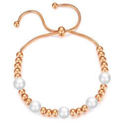 Newest Design Jewelry Titanium Steel Beaded Bracel
