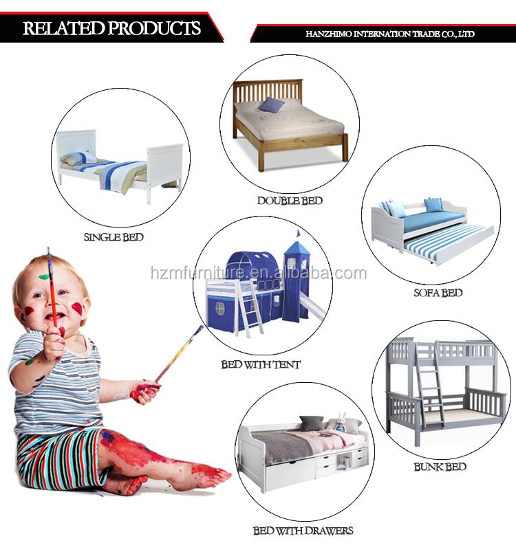 سرير أطفال خشبي وصنوبر رخيص الثمن بلون أبيض