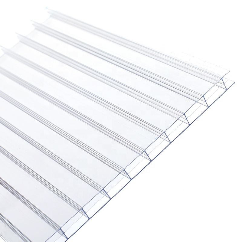 ISO Certification four-layer 10mm 12mm 16mm polycarbonate sheet