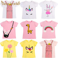 Bear Leader Kids Girl T Shirt Summer Baby Cotton Tops Toddler Tees Clothes Children Clothing New Cartoon T-shirts Short Sleeve