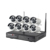 CCTV Camera System Wireless IP Outdoor POE with IP66 Waterproof Motion Detection Night Vision H.265 1080P Video 8CH Wifi NVR Kit