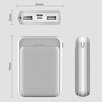 Online Shop Free Shipping 10000mAh Mini Power Bank for Company gift