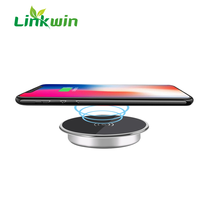 Table Furniture Embedded Qi Charger Wireless Charging for Smartphone