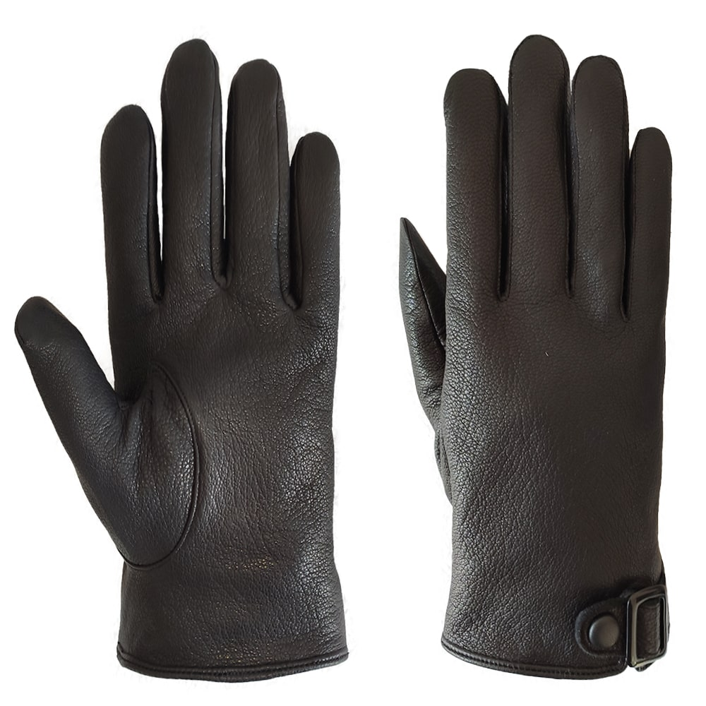 Custom Best Selling High Quality Winter Men Motorbike Imitation Deerskin Leather Gloves