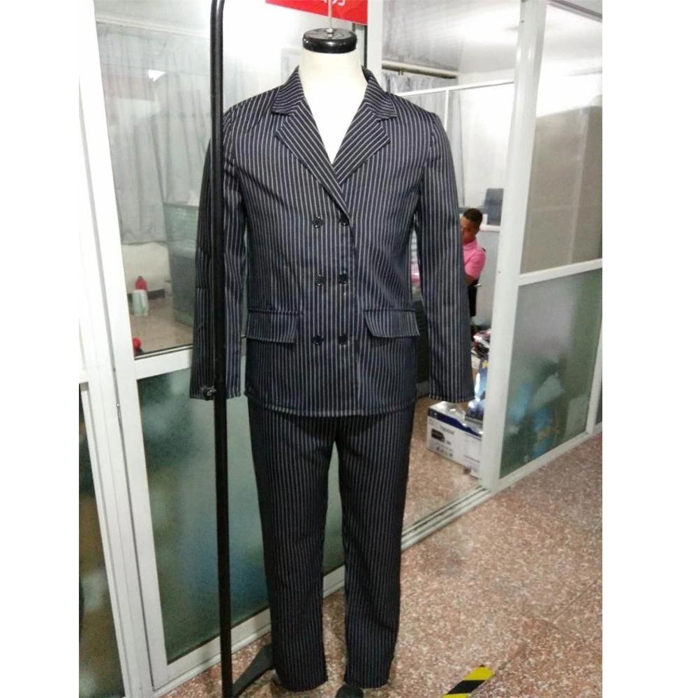 Costume Homme Gangster Avec Chapeau 5 piece 1920 robe fantaisie rayures Mafia Mob