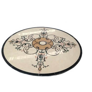 Marble water jet pattern inlay floor medallions patterns