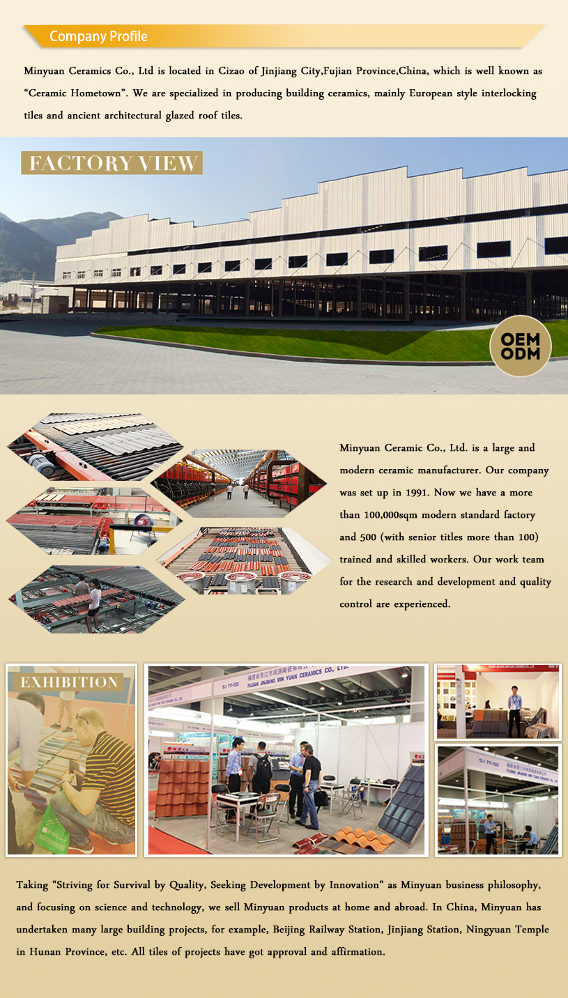 New Promoting branding cheap ceramic clay roofing tile for sale