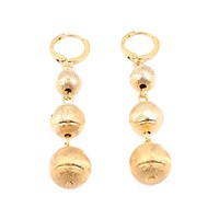 Gold Color Micronesia Beads Ball Earrings Trendy Marshall Bead Charm Jewellery Gifts