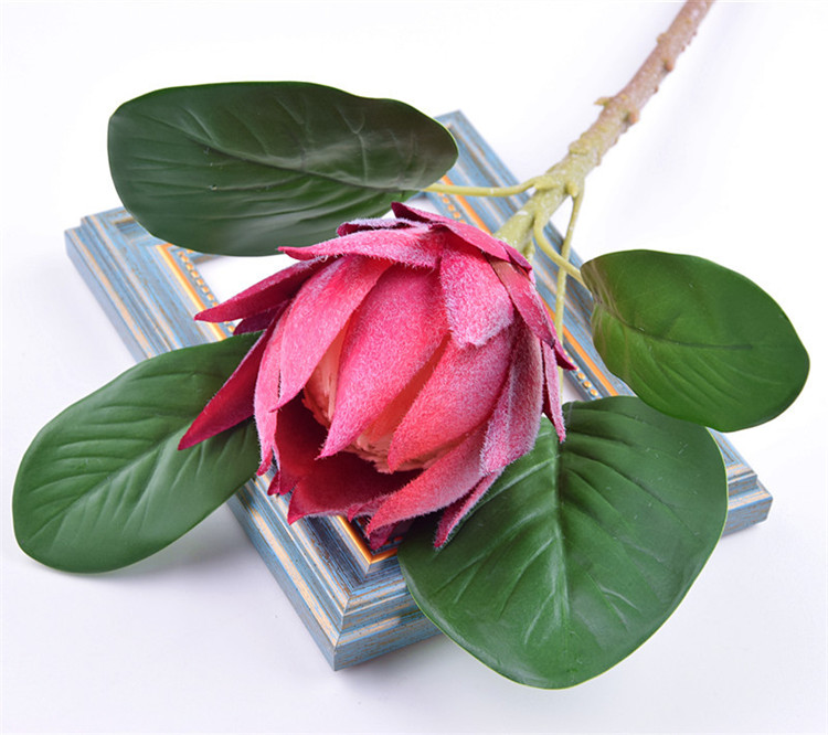 Factory direct sale cheap home decorative flower silk artificial protea