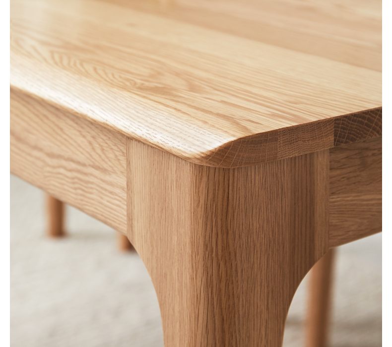product-BoomDear Wood-solid wood table dining table set short 4 persons modern online pine ash oak w-3