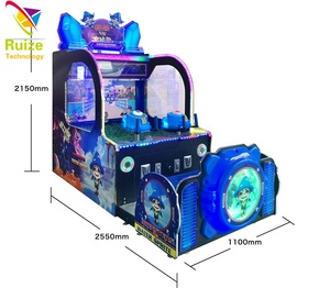 Water shooting arcade game machine, Monster vs Water Sprite water shooting redemption game machine for amusement park