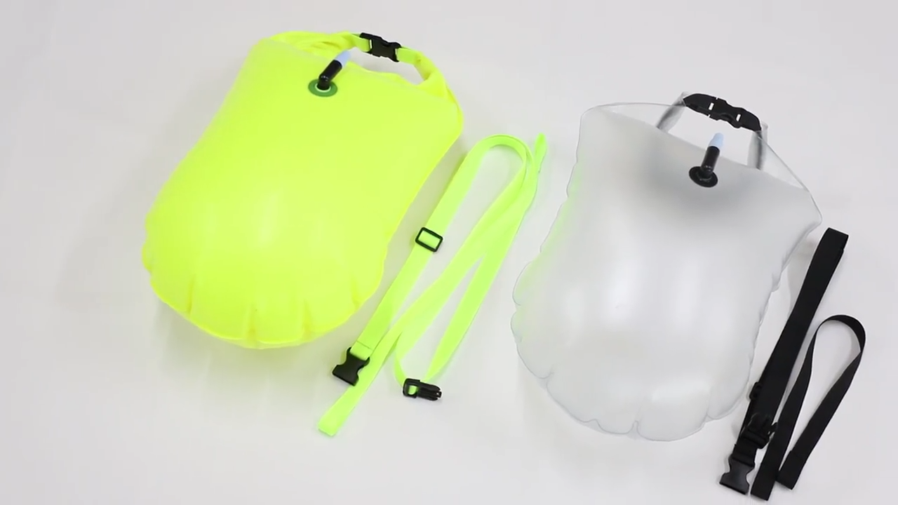 Yuanfeng Custom Inflatable PVC Safe Swimming Open Water Buoy Floating Dry Bag