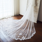 Cathedral Long Tulle Lace Two Layers Wedding Veil Bridal Veil